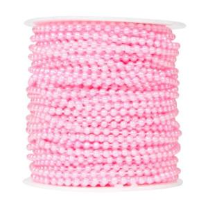 Perły korale na sznurku 4 mm 40 m różowe