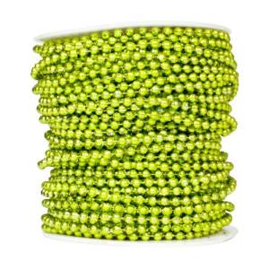 Perły korale na sznurku 4 mm 40 m zielone