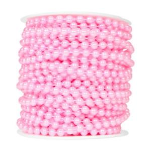 Perły korale na sznurku 6 mm 20 m różowe