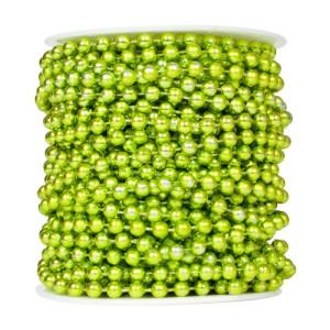 Perły korale na sznurku 6 mm 20 m zielone