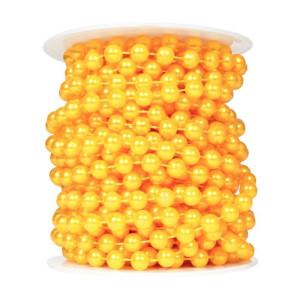 Perły korale na sznurku 8 mm 10 m pomarańczowe