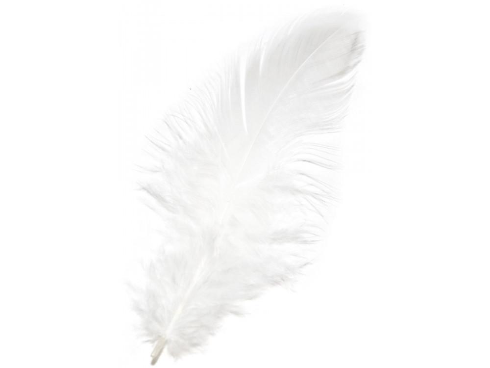 Piórka Dekoracyjne Ozdobne Białe 190 Szt
