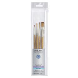 Set of synthetic brushes - Lefranc & Bourgeois - 4 pcs