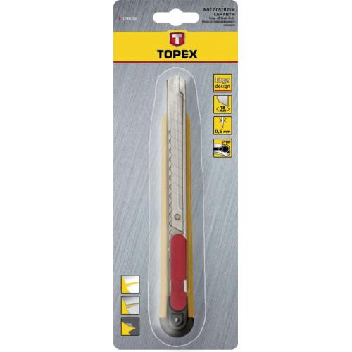 Nóż z ostrzem łamanym 9 mm TOPEX