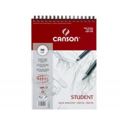 Sketch pad Student A4 - Canson - spiral-bound, 90 g, 100 sheets