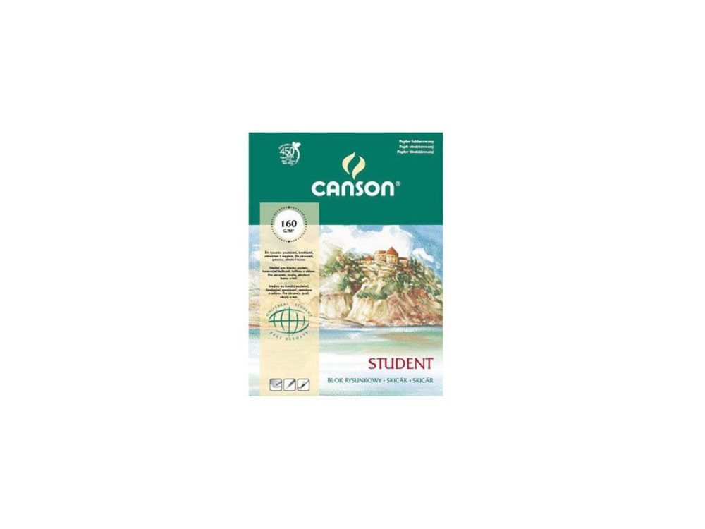 Blok rysunkowy Student A3 - Canson - 160 g, 30 ark.