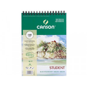 Blok rysunkowy CANSON student A4 160 g 50 ark. spirala