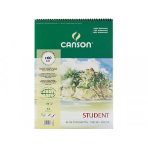 Blok rysunkowy CANSON student A3 160 g 30 ark. spirala