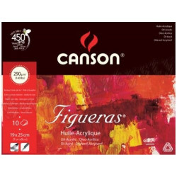 Oil and acrylic drawing paper pad Figureas 19 x 25 cm - Canson - 290 g, 10 sheets