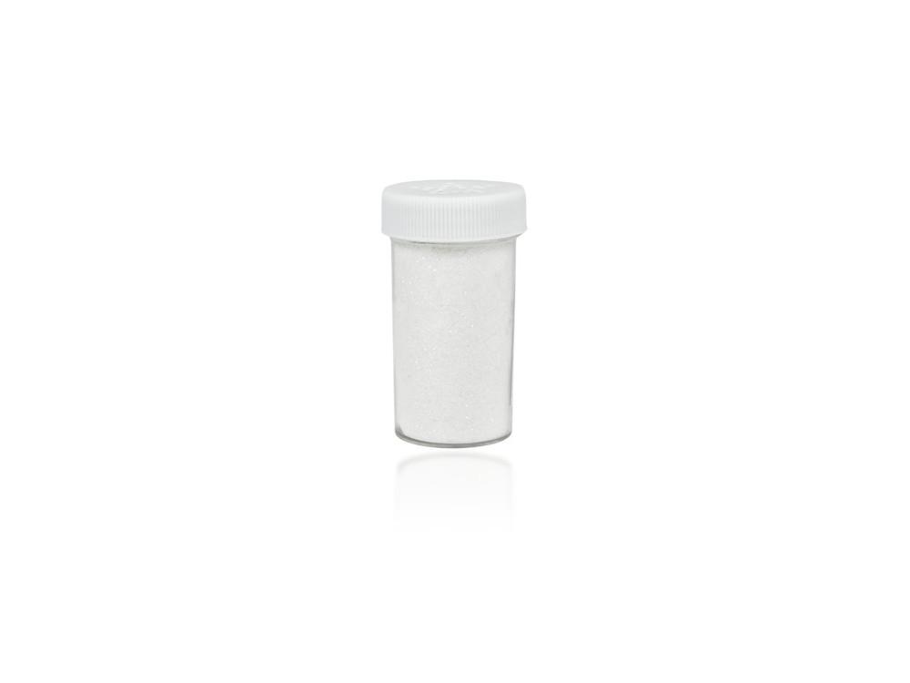 Brokat dekoracyjny, sypki - biały, 20 g