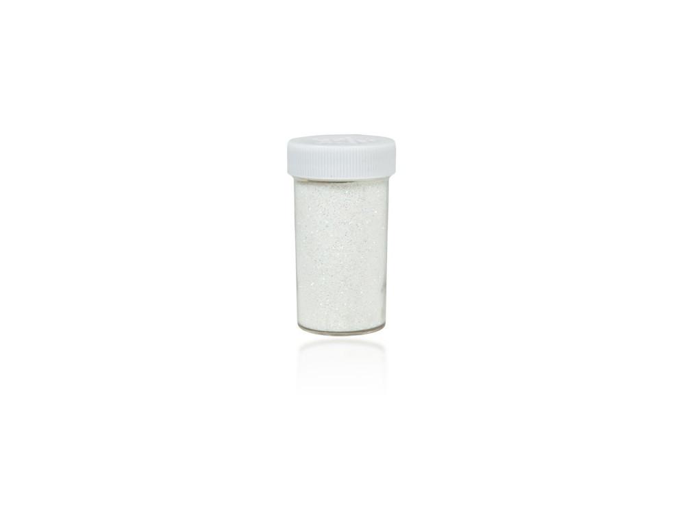 Brokat dekoracyjny, sypki - biały holograficzny, 20 g