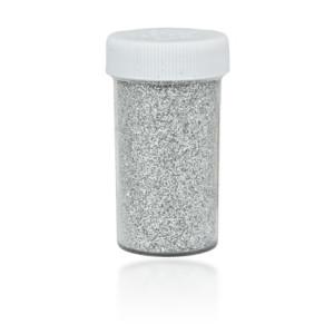 Brokat sypki solniczka 20 g srebrny KB100