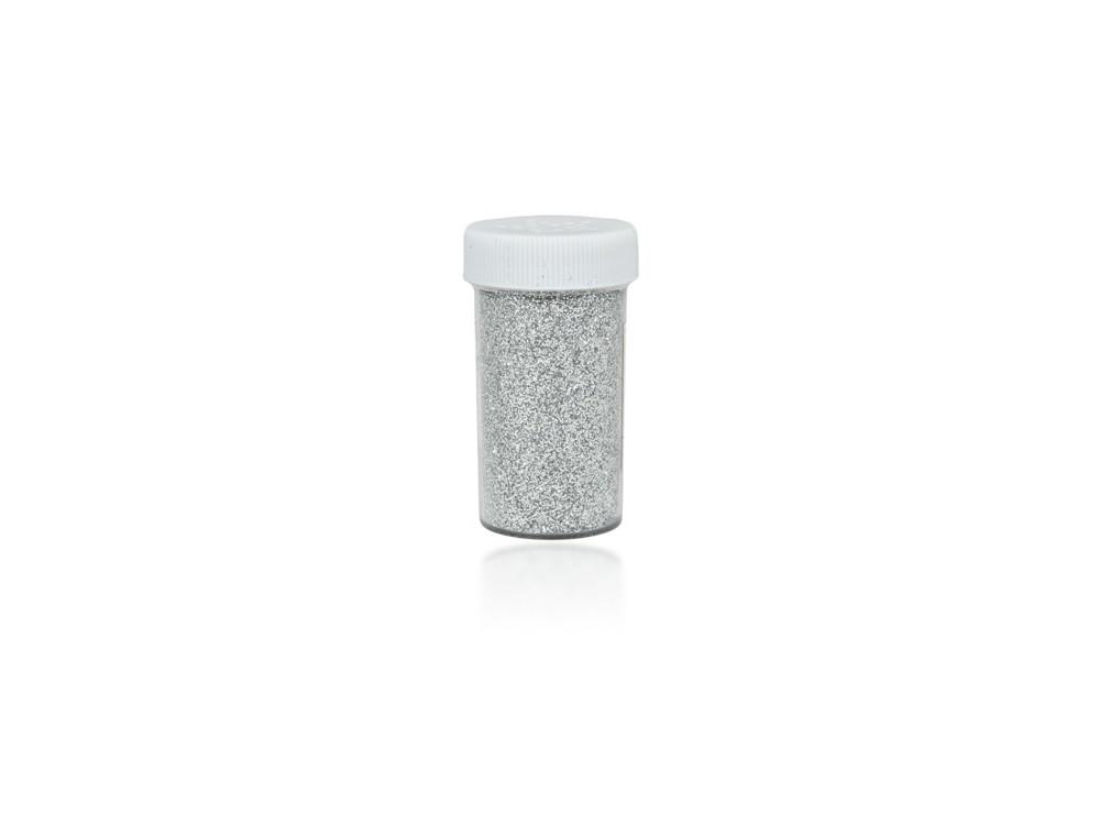 Brokat dekoracyjny, sypki - srebrny, 20 g