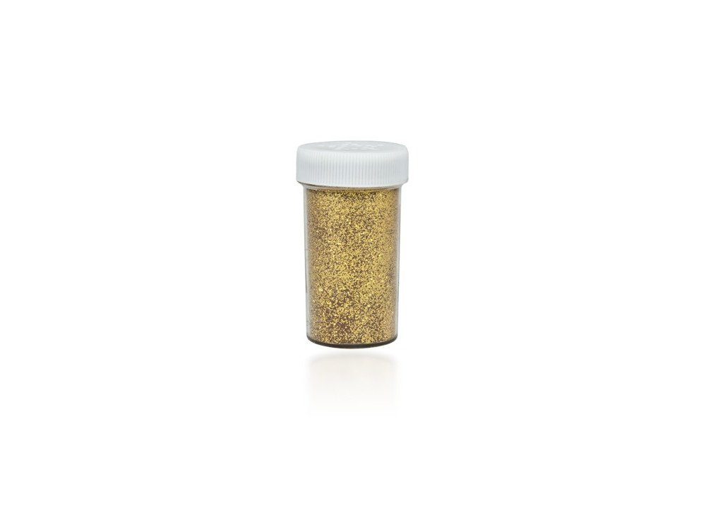 Brokat dekoracyjny, sypki - ciemnozłoty, 20 g