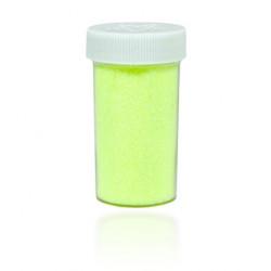 Brokat dekoracyjny, sypki - żółty neonowy, 20 g