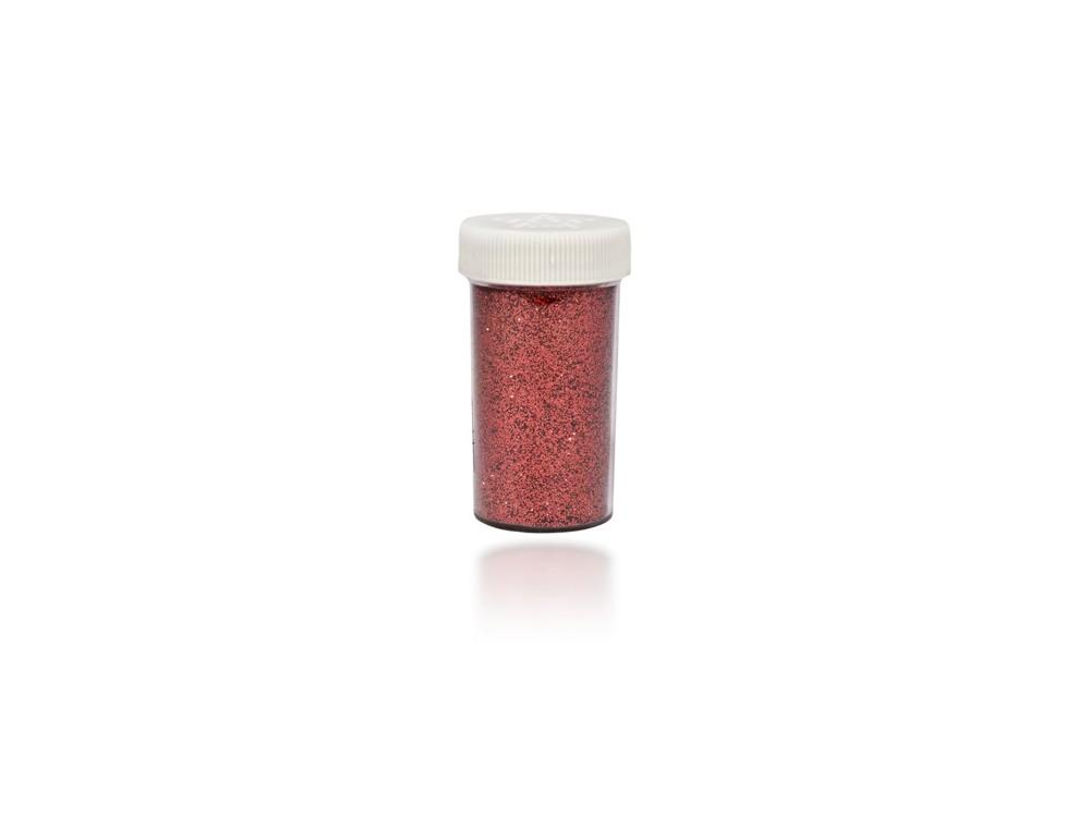 Brokat dekoracyjny, sypki - czerwony, 20 g