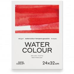 Blok do akwareli Watercolour - PaperConcept - cold press, 24 x 32 cm, 300 g, 10 ark.