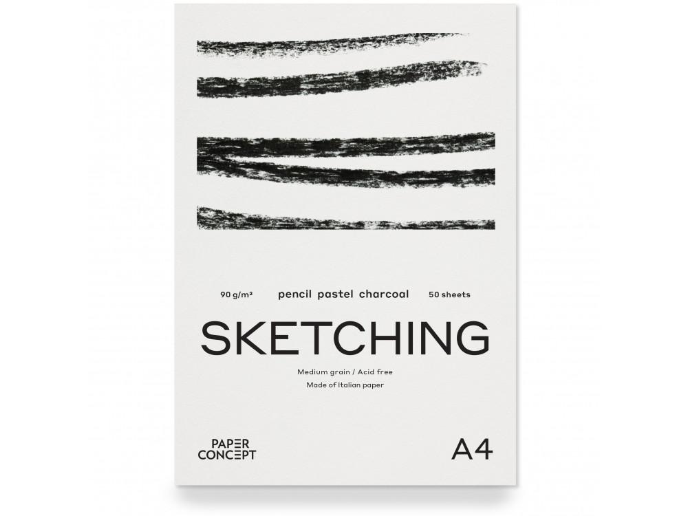 Blok szkicowy Sketching - PaperConcept - medium grain, A4, 90 g, 50 ark.