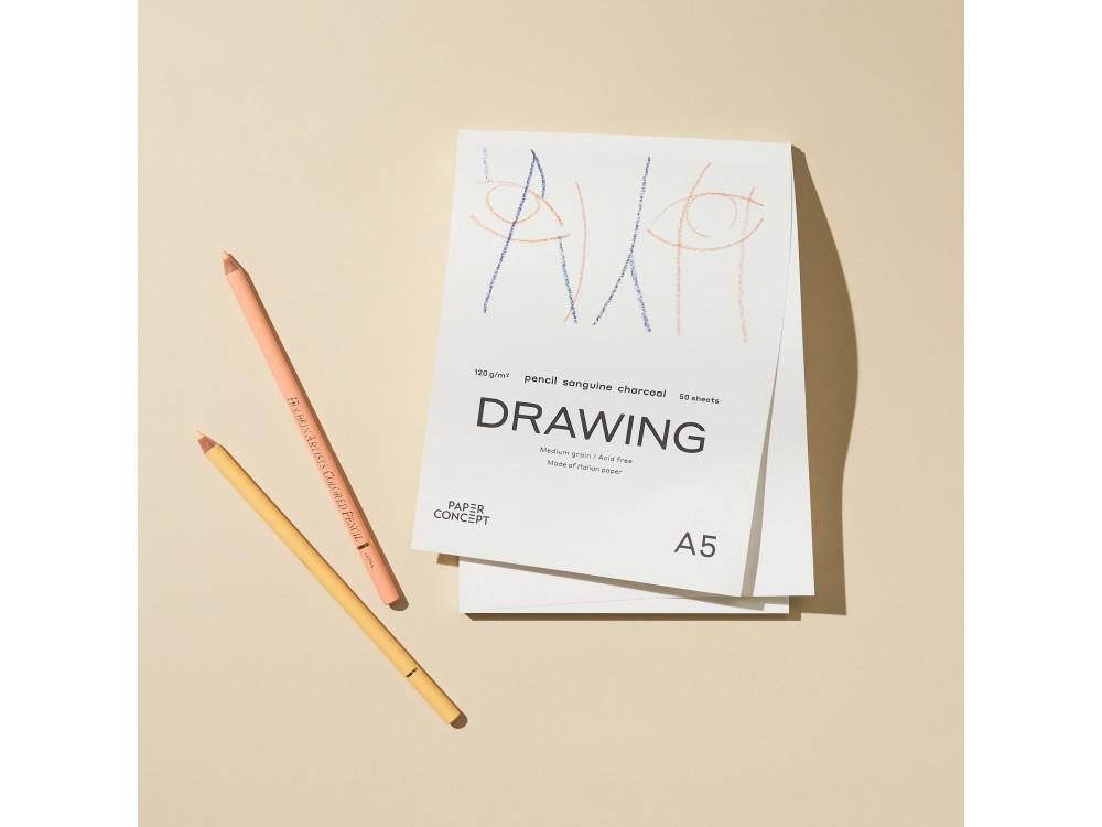 Blok rysunkowy Drawing - PaperConcept - medium grain, A4, 120 g, 50 ark.