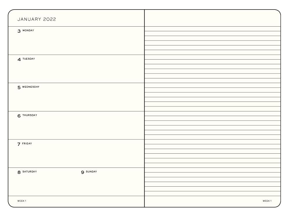 Planer i notatnik tygodniowy 2022 - Leuchtturm1917 - Aquamarine, miękka okładka, A5
