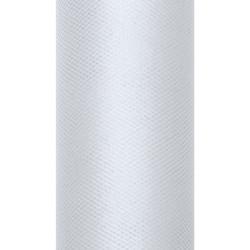 Tiul dekoracyjny 15 cm - jasnoszary, 9 m