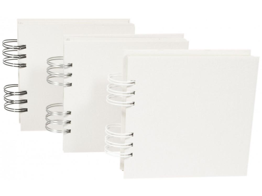 Baza do albumu 15 x 15 cm - Simply Crafting - biały grzbiet, 22 karty