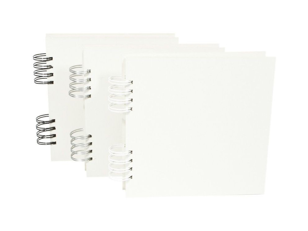 Baza do albumu 20 x 20 cm - Simply Crafting - biały grzbiet, 22 karty