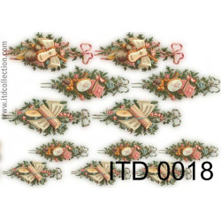 Papier do decoupage A4 - ITD Collection - klasyczny, 0018