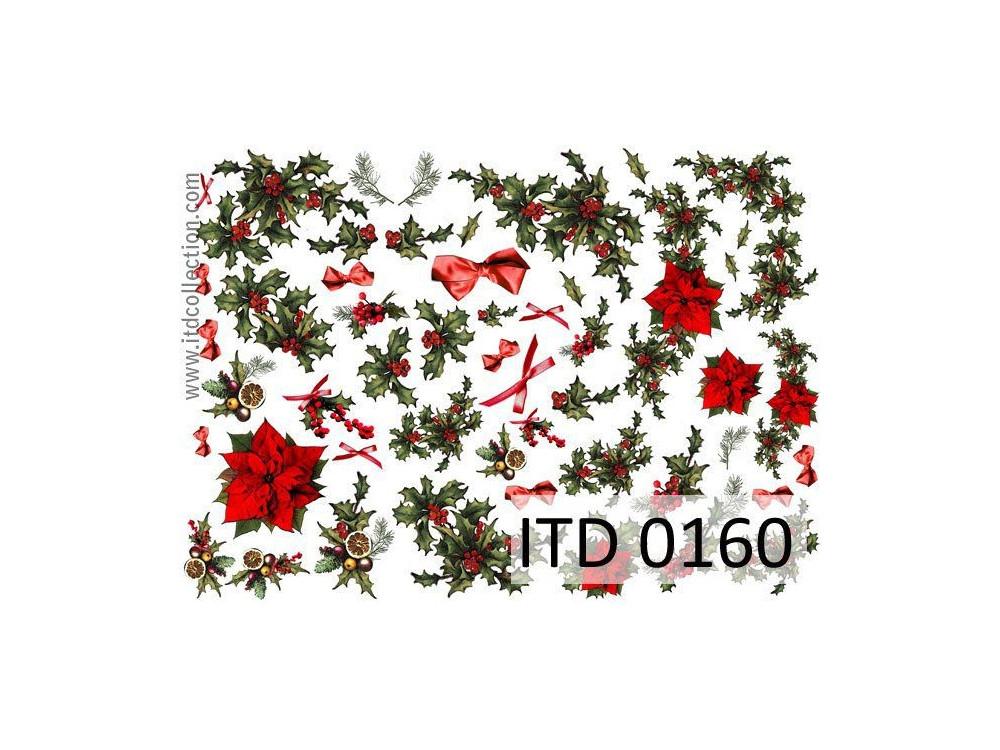 Papier do decoupage A4 - ITD Collection - klasyczny, 0160