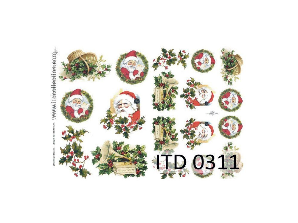 Papier do decoupage A4 - ITD Collection - klasyczny, 0311