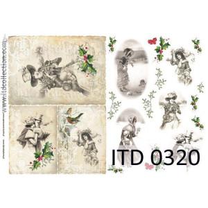 Papier decoupage A4 0320