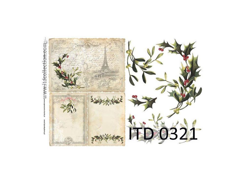 Papier do decoupage A4 - ITD Collection - klasyczny, 0321