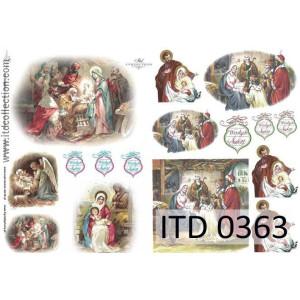 Papier decoupage A4 0363