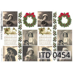 Papier do decoupage A4 - ITD Collection - klasyczny, 0454
