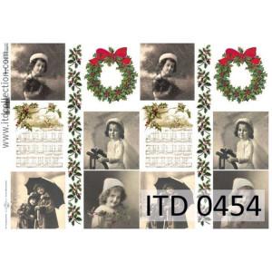 Papier decoupage A4 0454
