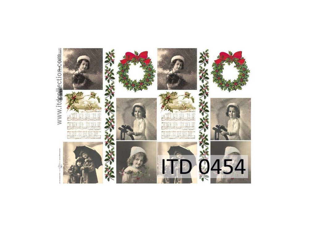 Decoupage paper A4 - ITD Collection - 0454