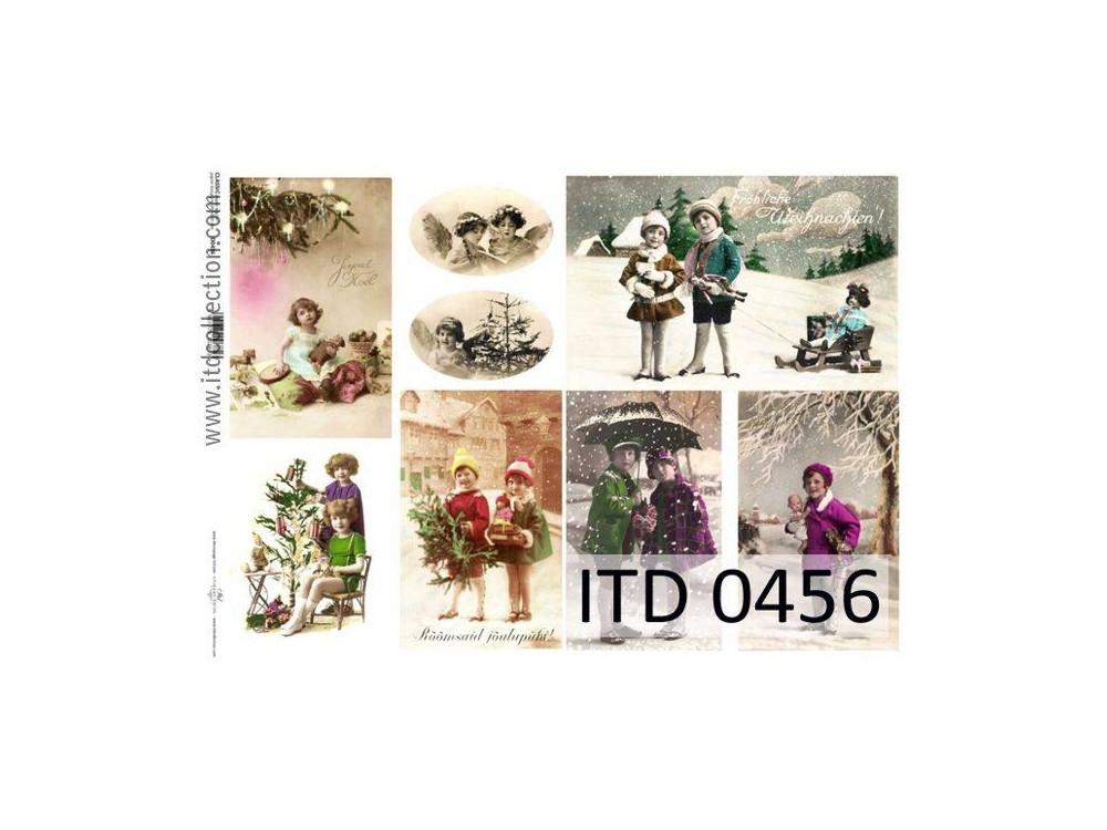 Papier do decoupage A4 - ITD Collection - klasyczny, 0456