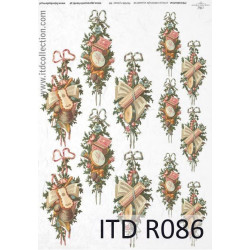 Decoupage paper A4 - ITD Collection - rice, R086