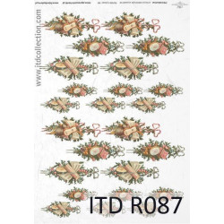 Decoupage paper A4 - ITD Collection - rice, R087
