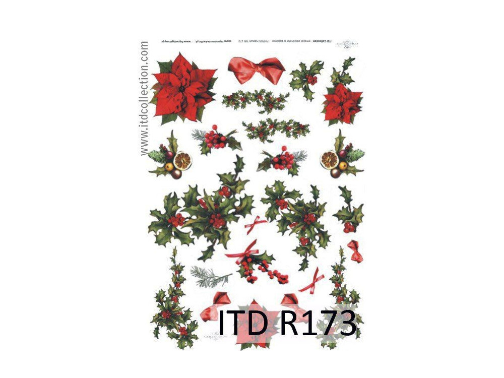 Papier do decoupage A4 - ITD Collection - ryżowy, R173