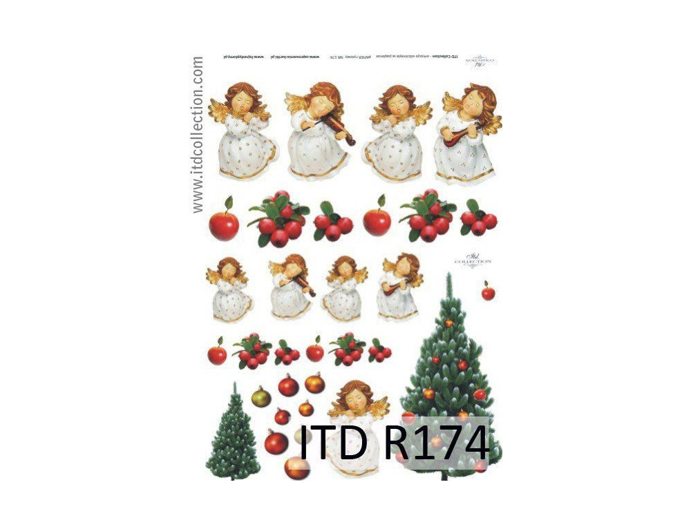 Papier do decoupage A4 - ITD Collection - ryżowy, R174