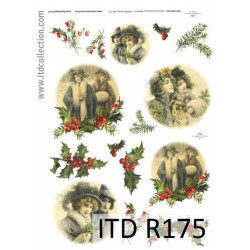 Papier do decoupage A4 - ITD Collection - ryżowy, R175