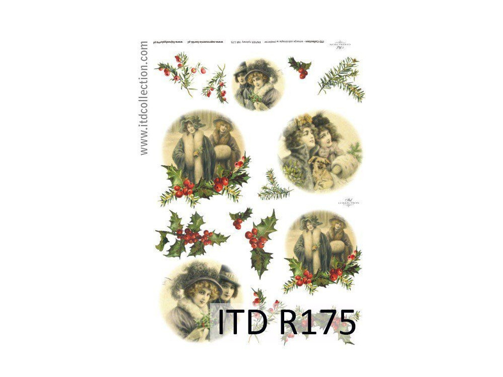 Decoupage paper A4 - ITD Collection - rice, R175