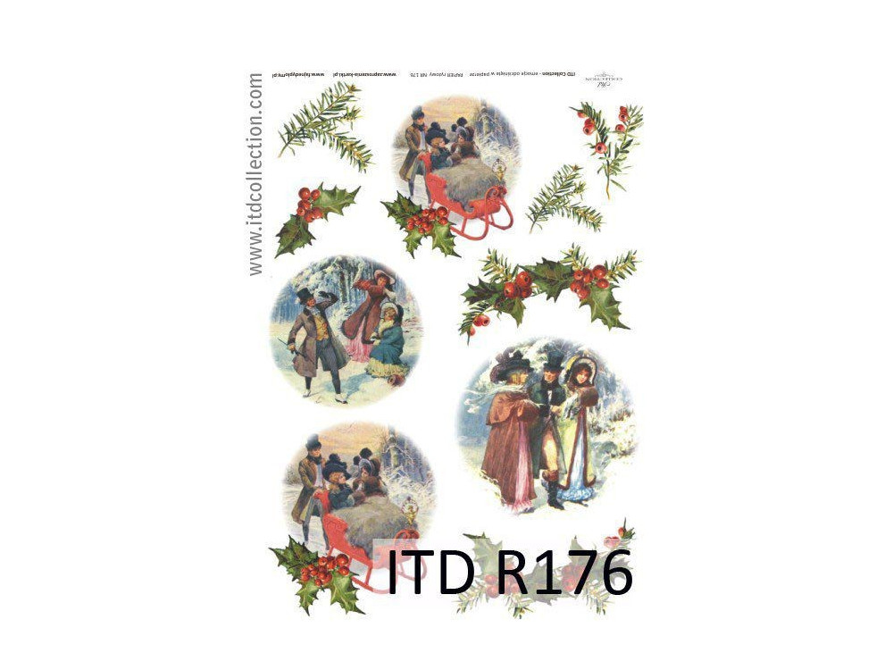 Papier do decoupage A4 - ITD Collection - ryżowy, R176