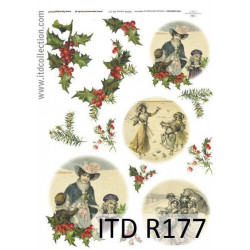 Papier do decoupage A4 - ITD Collection - ryżowy, R177