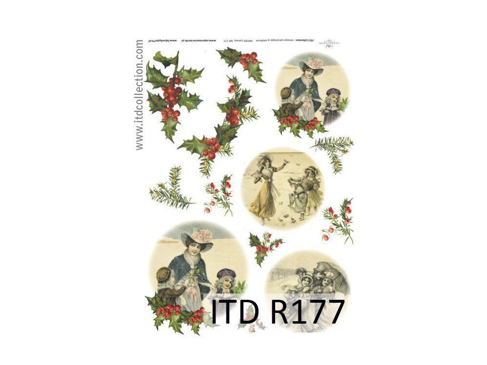 Decoupage paper A4 - ITD Collection - rice, R177