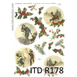 Papier do decoupage A4 - ITD Collection - ryżowy, R178