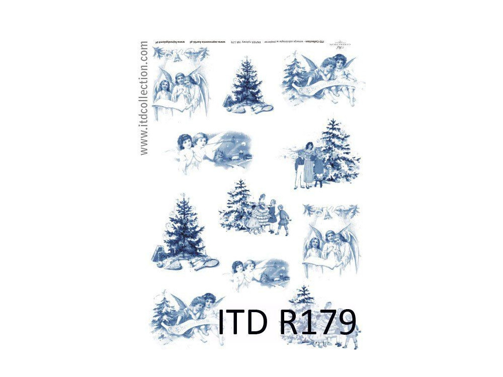 Papier do decoupage A4 - ITD Collection - ryżowy, R179