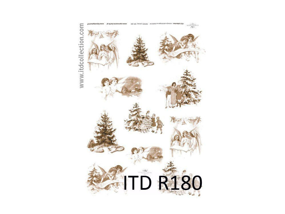 Papier do decoupage A4 - ITD Collection - ryżowy, R180