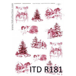 Papier do decoupage A4 - ITD Collection - ryżowy, R181